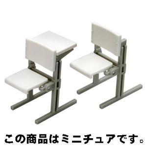 エポック 誰得?!俺得!! 講義室の椅子 04.後列セット(ホワイト)|omochayaya