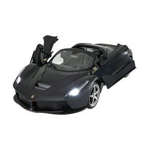RASTAR 1/14 ラ フェラーリ アペルタ ブラック(手動開閉ドア&ドリフト) [京商]取寄|omomax