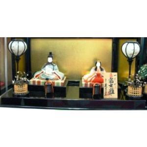 No.1019 久月 一秀作 雛人形 正絹木目込み 親王飾り 金屏風平飾り(富士雛)|omomax