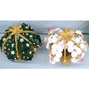 雛人形 雛祭り お雛様 用品 京花 桜橘 しだれ桜 木製 手作り 工芸品 #7 (サイズ中:約14cm)|omomax