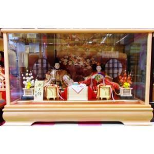 No.204 久月 雛人形 衣裳着 親王飾り 金華玄 (高級白木枠ガラスケース付)|omomax