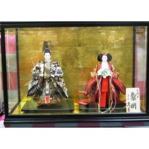 No.403 久月 雛人形 衣裳着 金銘 立親王飾り (高級木枠ケース付)|omomax