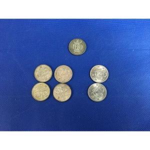 オリンピック記念100円硬貨 4枚 EXPO75 沖縄万博昭和50年2枚 昭和34年100円玉1枚     7点セット   b4