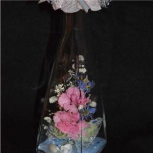 おもてなしギフト フラワーボトル 生花を色や形をそのままに、3ヶ月から半年間(保存状態によっては更に長期間)綺麗に咲かせます 四角すい型ボトル|omotenashigift|04