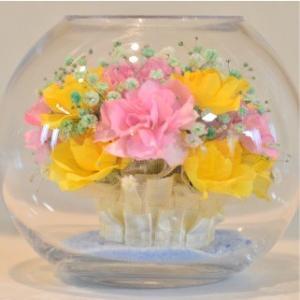 おもてなしギフト フラワーボトル 生花を色や形をそのままに、3ヶ月から半年間(保存状態によっては更に長期間)綺麗に咲かせます 球状型ボトル|omotenashigift|02
