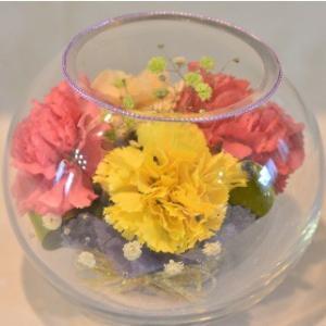 おもてなしギフト フラワーボトル 生花を色や形をそのままに、3ヶ月から半年間(保存状態によっては更に長期間)綺麗に咲かせます 球状型ボトル|omotenashigift|03