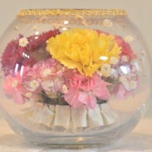 おもてなしギフト フラワーボトル 生花を色や形をそのままに、3ヶ月から半年間(保存状態によっては更に長期間)綺麗に咲かせます 球状型ボトル|omotenashigift|06