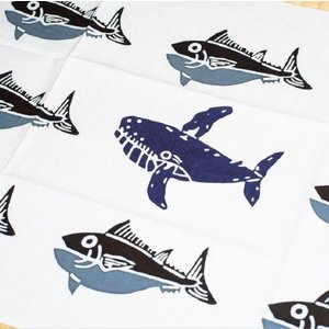 おもてなしギフト かながわの名産100選にも選ばれた三崎の大漁旗をモチーフに三富染物店が作ったまぐろの手ぬぐい5枚セット|omotenashigift|03