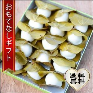おもてなしギフト かしわ餅 広島県三次の泉屋の山帰来(サンキライ)の葉を使ったかしわ餅 プレミアムサイズ|omotenashigift