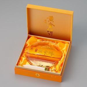 おもてなしギフト お茶(黄茶) 茶房茉莉花が直接買い付けた  君山黄茶 黄金餅(375g)|omotenashigift|02
