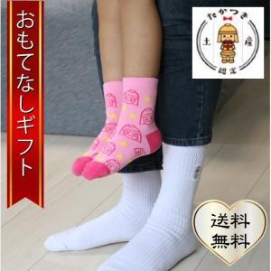 おもてなしギフト ペア靴下 大阪府高槻の(株)エスティーが作った地元マスコットのペア靴下(お父さんと子供セット)|omotenashigift