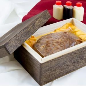 おもてなしギフト 中津川宿の老舗日本料理店 上見屋が作る 飛騨牛のローストビーフ 三種類の特製ソース(わさびマヨネーズ、ごまだれ、ポン酢)付|omotenashigift|02