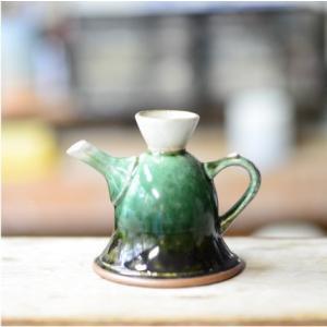 おもてなしギフト 織部焼 土岐の隆月窯の伝統工芸士 陶工 土田育弘が作るうつろひ織部のコーヒーメーカー 他ではできない逸品です|omotenashigift|02