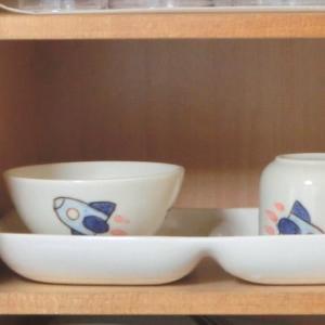 おもてなしギフト 名入れ子供用食器 クレヨンで描いたサチイラストの入った子供用名入れ食器セットA 気持ちを残すメッセージプレート付き|omotenashigift|06