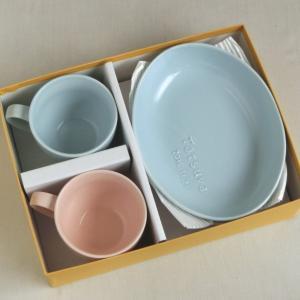 おもてなしギフト 名入れ色どりを揃えた食器 サチスタイルオリジナルの柔らかカラーの名入れ食器セットA |omotenashigift|05