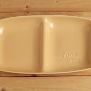 おもてなしギフト 名入れ色どりを揃えた食器 サチスタイルオリジナルの柔らかカラーの名入れ食器セットB|omotenashigift|03