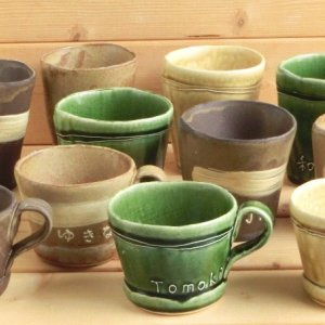 おもてなしギフト 名入れペアカップ お二人で別々のカップを選ぶことができます ひとつ一つ手で作っています|omotenashigift|02