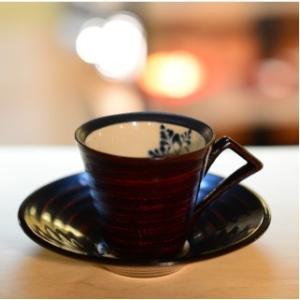 おもてなしギフト 漆の器 輪島の漆塗、美濃の陶器が出会った漆陶 二つの日本の伝統を同時に味わう まるで木のよう シダ模様のペアコーヒーカップ&ソーサー|omotenashigift|04