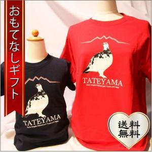 おもてなしギフト Tシャツ 立山の玄関 富山県魚津から届ける親子アルピニストのための雷鳥お揃いぺアTシャツ|omotenashigift