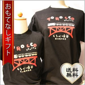 おもてなしギフト Tシャツ 立山の玄関 富山県魚津から届ける親子アルピニストのための黒部峡谷トロッコ電車のお揃いぺアTシャツ |omotenashigift
