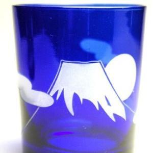 おもてなしギフト 被せガラス ロックグラス 瑠璃色|omotenashigift|03