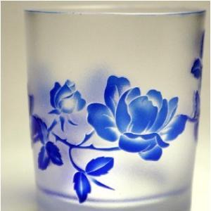 おもてなしギフト 被せガラス ロックグラス 瑠璃色|omotenashigift|04