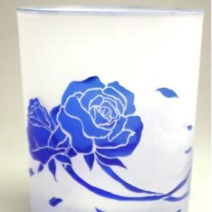 おもてなしギフト 被せガラス ロックグラス 瑠璃色|omotenashigift|06