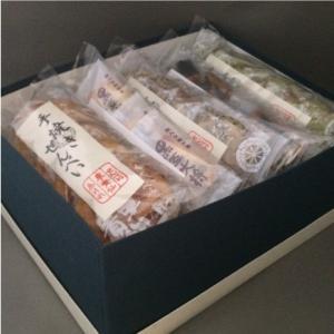 おもてなしギフト 老舗せんべい店 車貴仙の人気の素焼きが入ったこだわり煎餅とあられおかきセット(B) omotenashigift 02