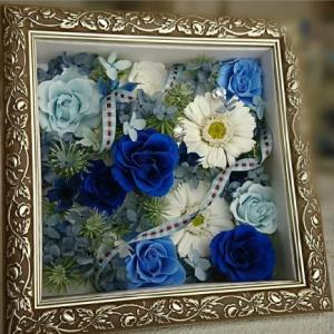 おもてなしギフト アートフラワー 山形のフラワーショップjujuのアートフラワー フレームに入った立体的なお花ギフト|omotenashigift|03
