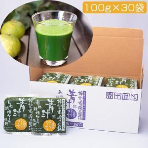 青汁シークワーサー入り 100g×30袋セット(冷凍)(国産ケール・完全無添加100%ジュース)(ベルファーム) omotesando-club
