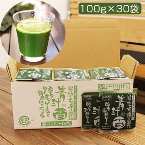 青汁百 100g×30袋セット(冷凍)(国産ケール・完全無添加100%ジュース)(栽培期間農薬不使用)(ベルファーム) omotesando-club