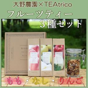 大野農園 フルーツティ3種ギフト(りんご、もも、なし) お歳暮のし対応可 omotesando-club