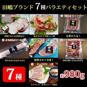 田嶋ブランド 7種バラエティセット 980g 田嶋ハム工房|omotesando-club