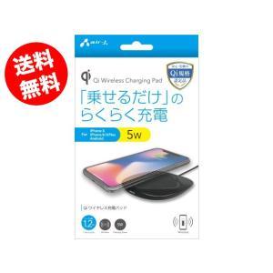 ワイヤレス充電器 iPhoneX iPhone8 iPhone8Plus 置くだけ充電 Qi充電 チー充電 充電パッド AWJ-PD1 BK(ブラック) omsp-sp
