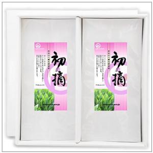 【緑茶ギフトセット】初摘100g 茶袋2本セット 箱入り 2,812円|omuraen