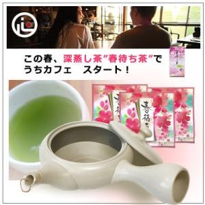 【お茶と急須のセット】 春待ち茶と常滑焼アイボリー急須セット|omuraen