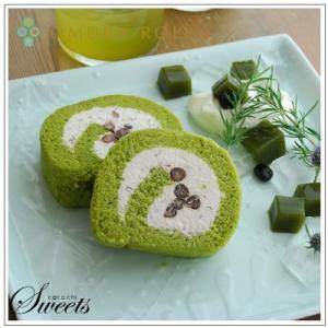 【ロールケーキ】おおむらロール 抹茶と和三盆の生クリーム仕立て 1本|omuraen|05