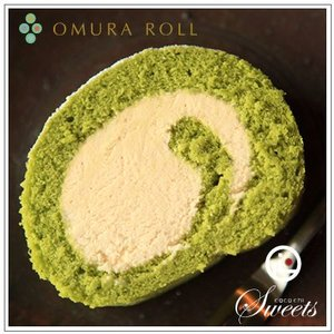 【ロールケーキ】おおむらロール 〜抹茶ティラミスロールケーキ【Haru-uta】(はるうた) 1本|omuraen