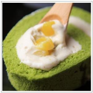 【ロールケーキ】おおむらロール 〜抹茶マロンムース仕立て 1本|omuraen|03