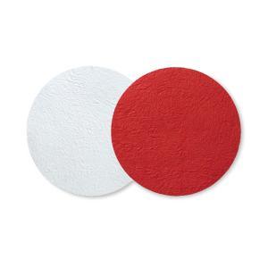 クリスマス おしゃれ 和紙 テーブルマット 和モダン medetaya modern サークルマット 中 赤|on-washi