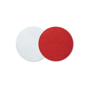 コースター おしゃれ 和モダン 和紙 medetaya modern サークルマット 小 赤|on-washi