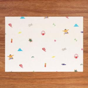 お祝い かわいい 和紙 テーブルマット おもてなし 縁起物ランチョン 5枚入 medetaya happy on-washi