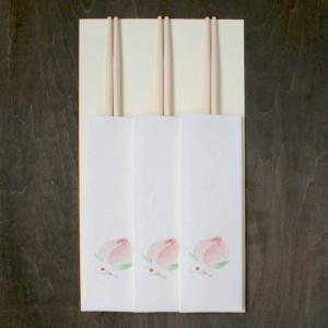 おはなし箸包み あっぱれ桃 3膳入(ネコポス可) on-washi