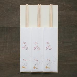 おはなし箸包み ここ掘れワンワン 3膳入(ネコポス可)|on-washi