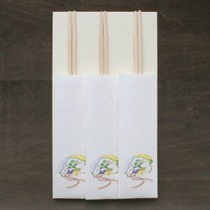 おはなし箸包み 檜扇 3膳入(ネコポス可) on-washi