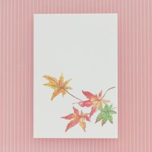 季節のはがき 秋 散り紅葉(ネコポス可)|on-washi