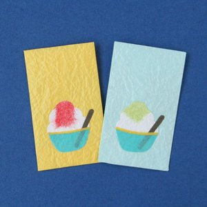ミニぽち袋 かき氷(ネコポス可)|on-washi