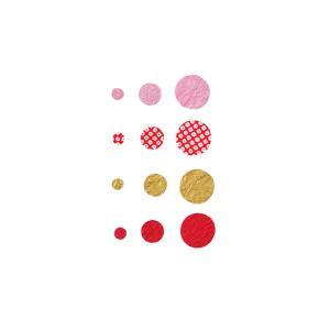 和紙きり絵 まる 60枚入(ネコポス可)|on-washi