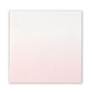 和紙シール 正方形 ぼかし うす紅 10枚入(ネコポス可)|on-washi