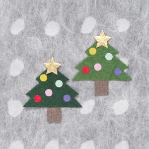 和紙パーツ 冬 クリスマスツリー(ネコポス可)|on-washi